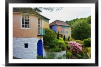 Typical architecture at Portmeirion, Framed Mounted Print