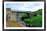 Iron Bridge Gorge, Framed Mounted Print