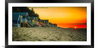 Sunset at Wells-next-the-Sea , Framed Mounted Print