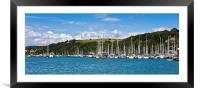 Yachts on the River Dart, Framed Mounted Print
