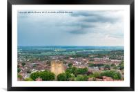 Lincoln Cityscape, Framed Mounted Print