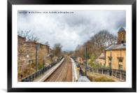 Saltaire Train Station, Framed Mounted Print