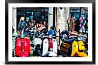 Scooters, Framed Mounted Print