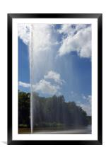 curtain on lake, Framed Mounted Print
