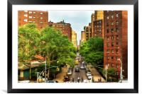 10th Ave and W 26th St New York City, Framed Mounted Print