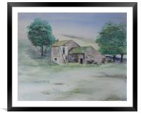 The Abandoned House, Framed Mounted Print
