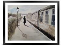 Waiting At Williton, Framed Mounted Print