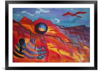 Native Women at Window Rock, Framed Mounted Print