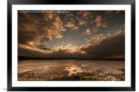 Sunset at Budle Bay, Framed Mounted Print