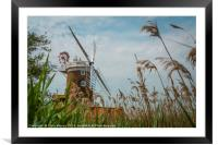 Cley Windmill Cley next the Sea Norfolk England , Framed Mounted Print