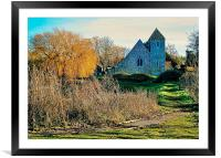 St Margarets Church, Lower Halstow, Framed Mounted Print