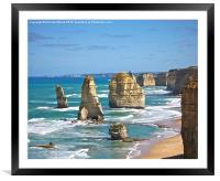 The 12 Apostles a second look, Framed Mounted Print