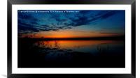 Chasewater Sunset, Framed Mounted Print