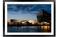 The Salthouse Dock At Night, Framed Mounted Print