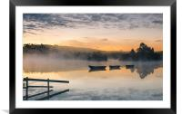 Knapps Loch Sunrise, Framed Mounted Print
