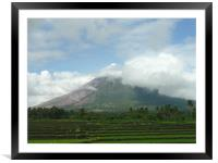 Mayon Volcano in Albay, Framed Mounted Print