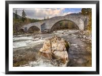 The Old Bridge of Dee, Framed Mounted Print