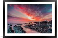 North Devon Sunset, Framed Mounted Print