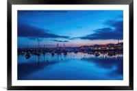 Torquay Harbour After Sunset., Framed Mounted Print