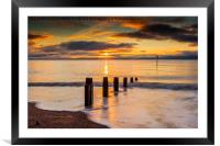 Beach Golden Sunrise, Framed Mounted Print