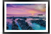 Purple Sunset, Framed Mounted Print