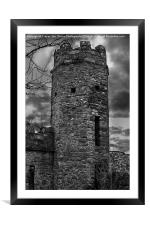 East Wall Tower, Framed Mounted Print
