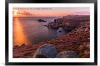 Lands End Sunset, Framed Mounted Print