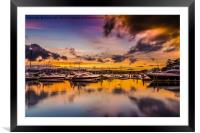 Torquay Marina Sunset., Framed Mounted Print