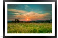 Devon Sunset, Framed Mounted Print
