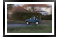 """Land Rover series one 86"""", Framed Mounted Print"""