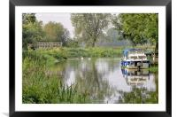 Early autumn river scene , Framed Mounted Print