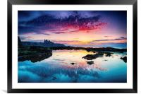 Sunset reflects, Framed Mounted Print
