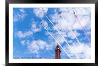 Red Arrows over the Tower, Framed Mounted Print