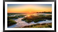 Sunrise over the Walton Backwaters, Framed Mounted Print