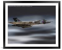 Tribute Flight Of Vulcan Over Clacton 2015, Framed Mounted Print