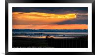 Walton On Naze Backwater Sunset, Framed Mounted Print