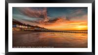 Red Sky Morning At Frinton On Sea, Framed Mounted Print