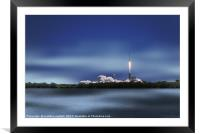 Falcon 9 Lift Off, Framed Mounted Print