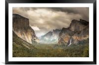 Storm Clouds over Yosemite, Framed Mounted Print