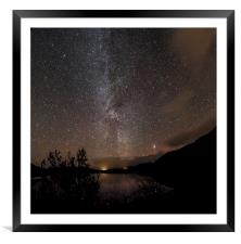 Milky Way over the Mound, Framed Mounted Print