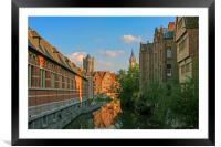 Reflections of Ghent, Framed Mounted Print