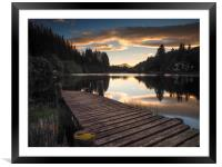 Loch Ard at Sunset, Framed Mounted Print