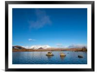Lochan na h-Achlaise, Rannoch Moor, Scotland., Framed Mounted Print