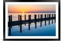 Sunset in Weston-Super-Mare, Framed Mounted Print