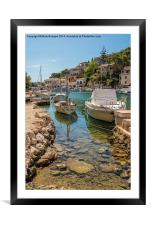 Harbour, Cala Figuera, Framed Mounted Print