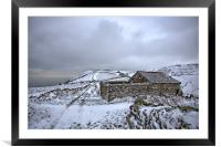 Snow Covered Barn on Exmoor, Framed Mounted Print