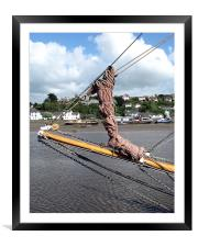 Through the Rigging, Framed Mounted Print
