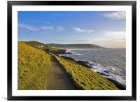 Path from Baggy point to Croyde and Woolacombe, Framed Mounted Print