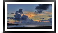 Instow Sunset, Framed Mounted Print