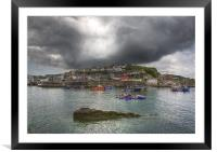 Mevagissey outer harbour Cornwall, Framed Mounted Print